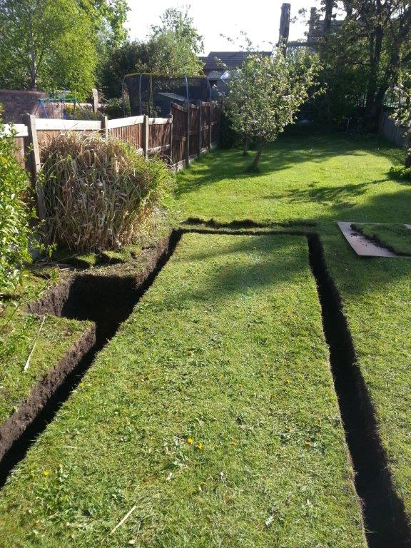 Garden drainage system mole group for Domestic garden ideas