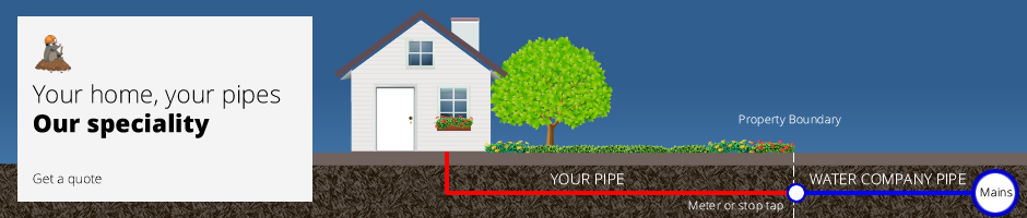 Get a quote for water pipe replacement or installation